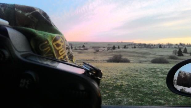 Handy-Schnappschuss: Blick aus dem Auto