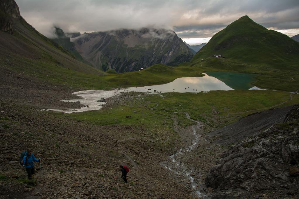 Aufstieg von der Memminger Hütte zur Seescharte