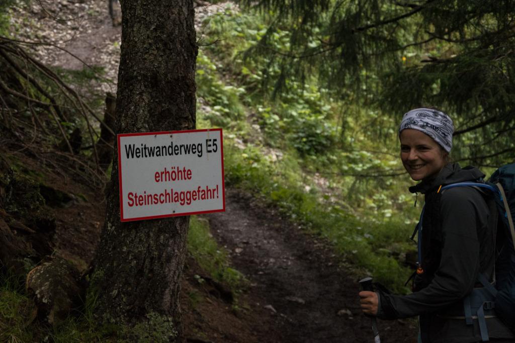 """Aus der Serie """"Letzte Fotos"""" - Steinschlaggefahr im Zammer Loch"""