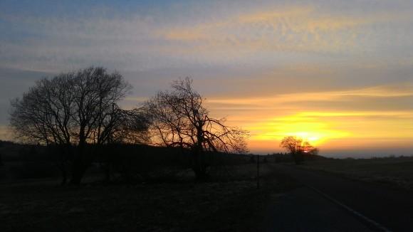 Handy-Schnappschuss: Sonnenaufgang